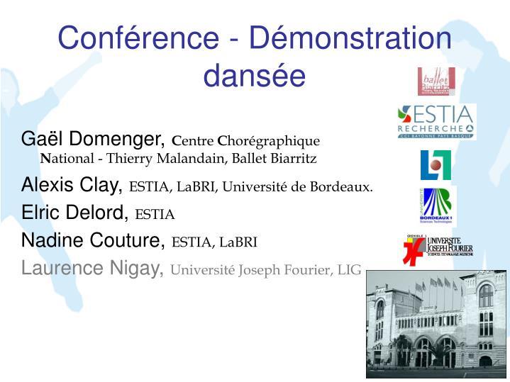 Conférence - Démonstration