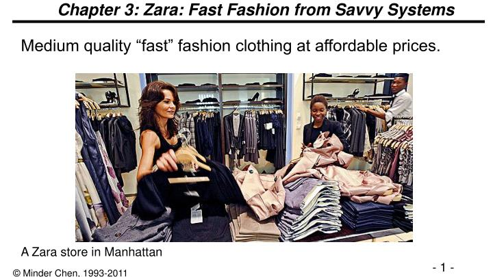 Chapter 3 zara fast fashion from savvy systems