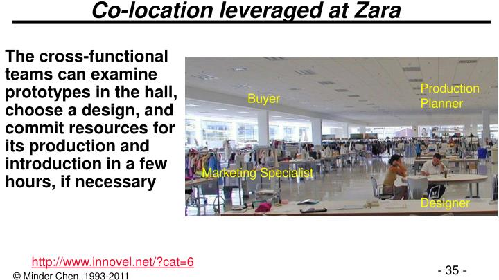 Co-location leveraged at Zara