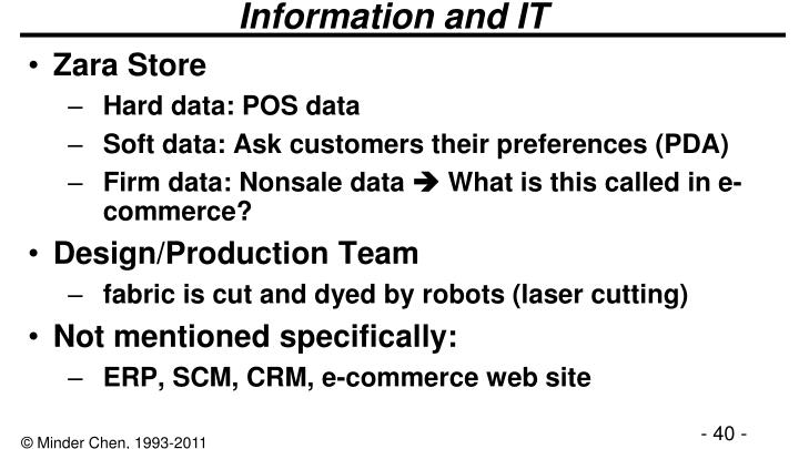 Information and IT