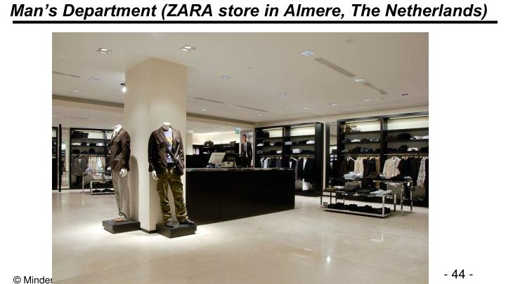Man's Department (ZARA store in Almere, The Netherlands)