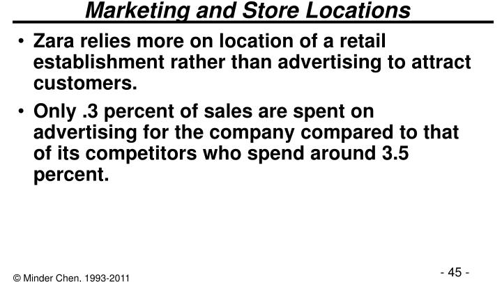 Marketing and Store Locations