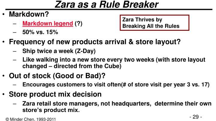 Zara as a Rule Breaker