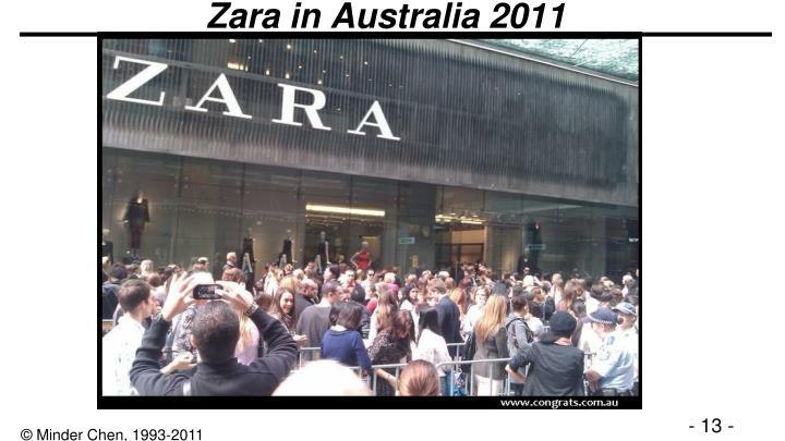 Zara in Australia 2011