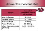 astaxanthin concentration