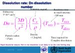 dissolution rate dn dissolution number