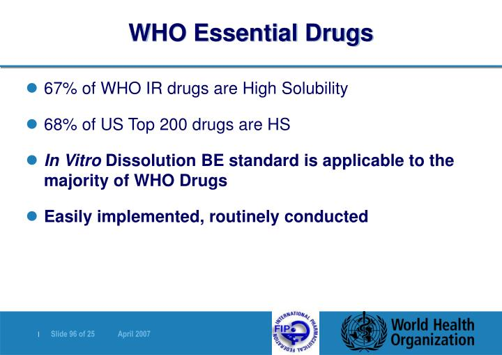 WHO Essential Drugs