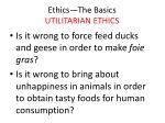 ethics the basics utilitarian ethics