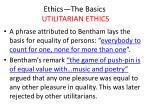 ethics the basics utilitarian ethics12