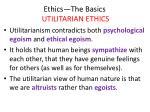 ethics the basics utilitarian ethics13