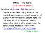 ethics the basics utilitarian ethics14