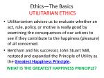 ethics the basics utilitarian ethics18