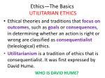 ethics the basics utilitarian ethics2