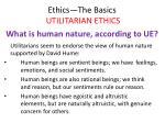 ethics the basics utilitarian ethics23