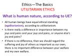ethics the basics utilitarian ethics24