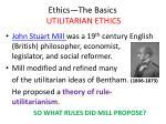 ethics the basics utilitarian ethics26