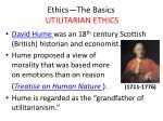 ethics the basics utilitarian ethics3