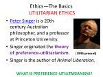ethics the basics utilitarian ethics30