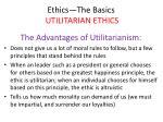ethics the basics utilitarian ethics37