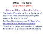 ethics the basics utilitarian ethics43