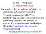 ethics the basics utilitarian ethics7