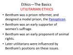ethics the basics utilitarian ethics9
