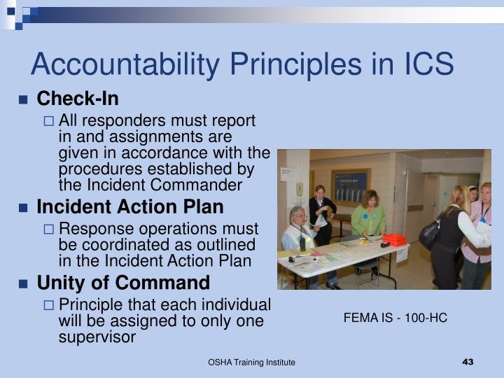 Accountability Principles in ICS