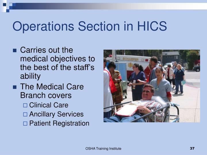 Operations Section in HICS