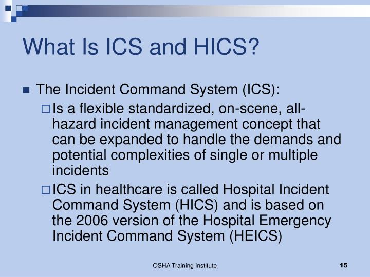 What Is ICS and HICS?