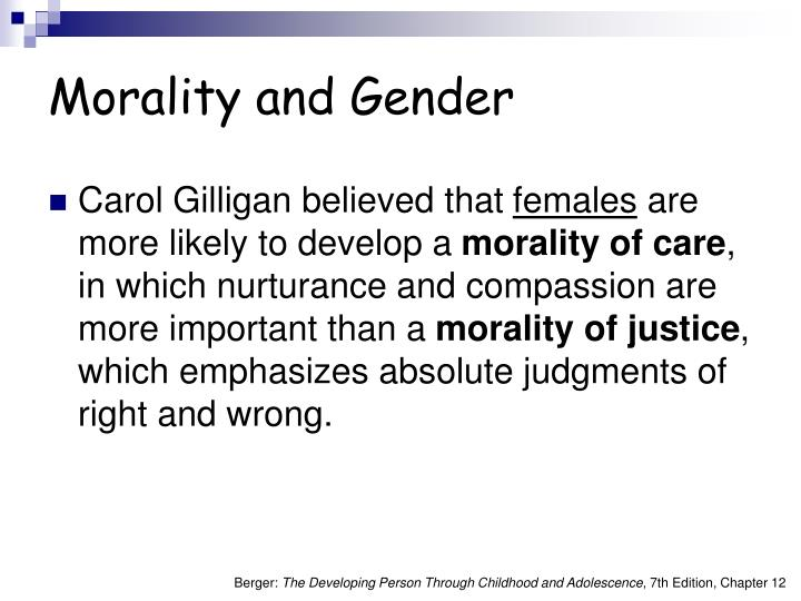 Morality and Gender