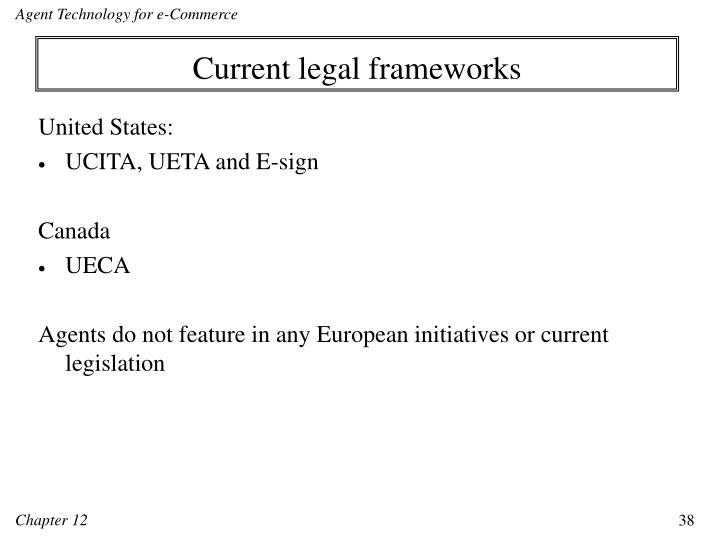 Current legal frameworks