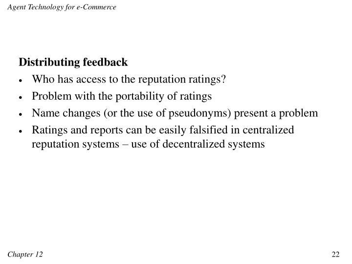 Distributing feedback