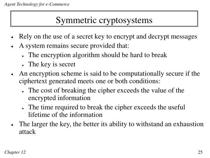 Symmetric cryptosystems