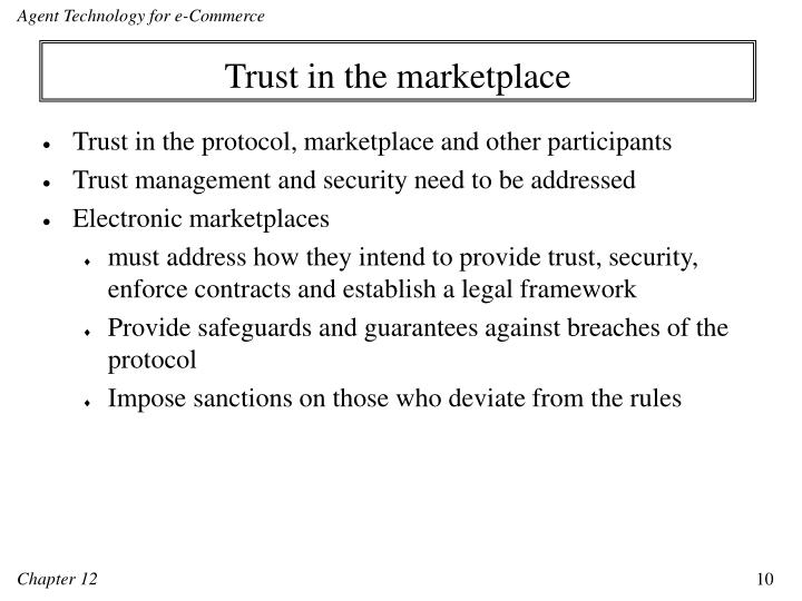 Trust in the marketplace