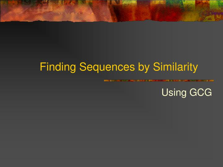 Finding Sequences by Similarity