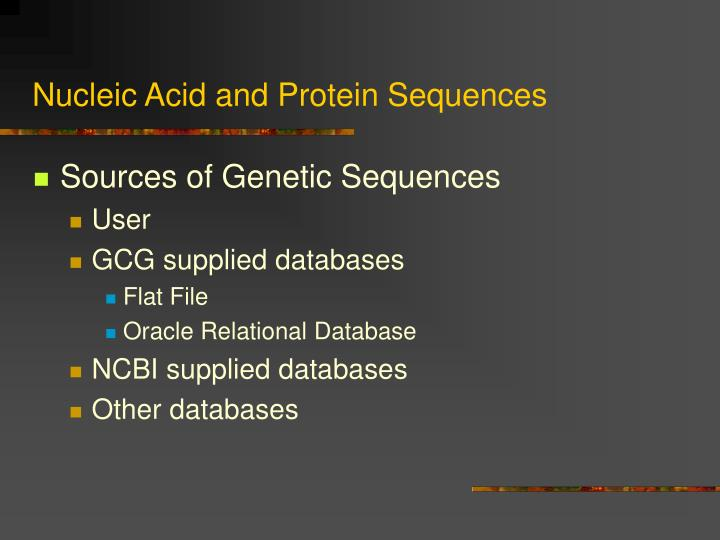 Nucleic acid and protein sequences