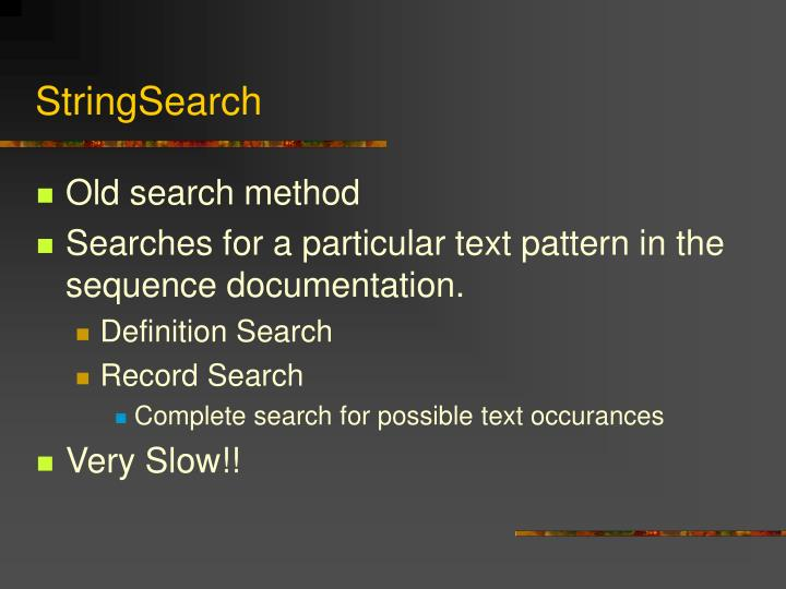 StringSearch