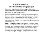 regional university investments that are paying off