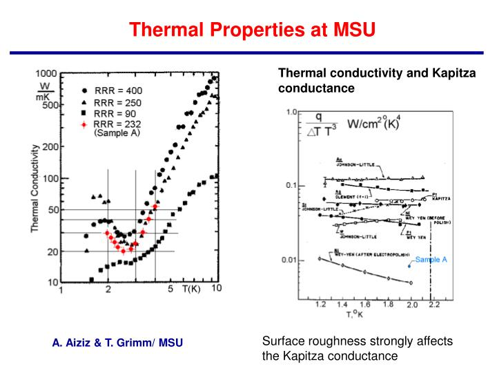 Thermal Properties at MSU