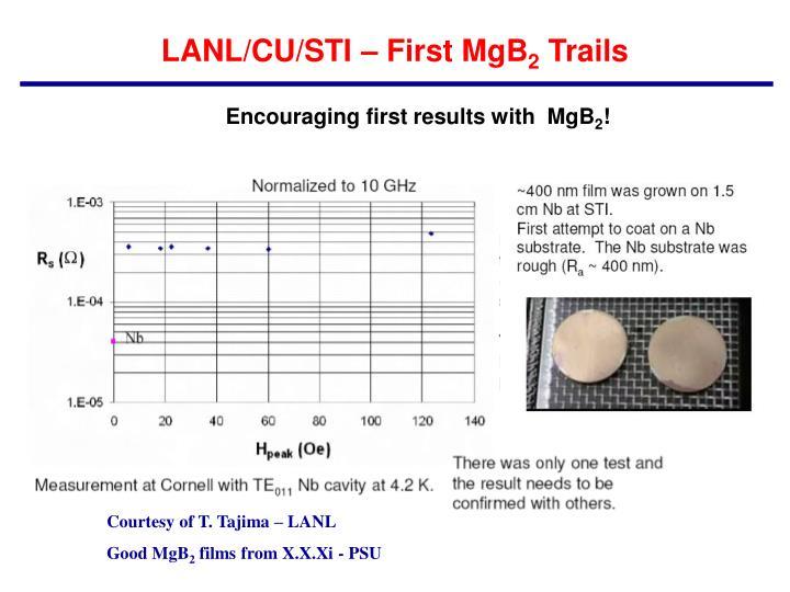 LANL/CU/STI – First MgB