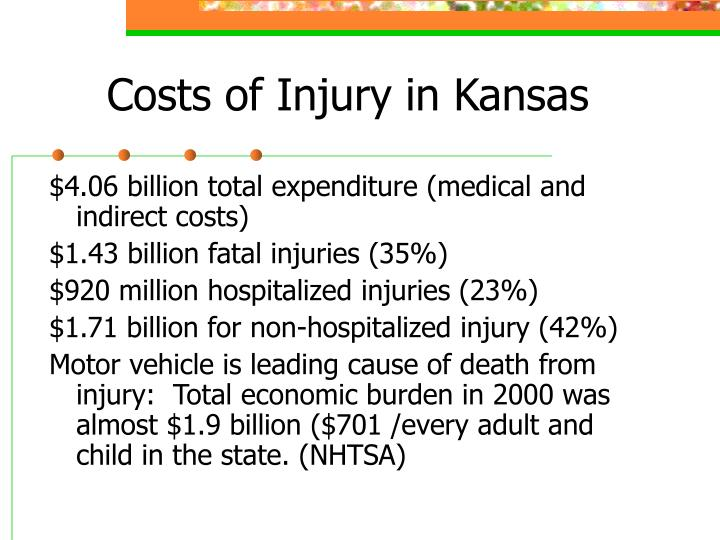 Costs of Injury in Kansas