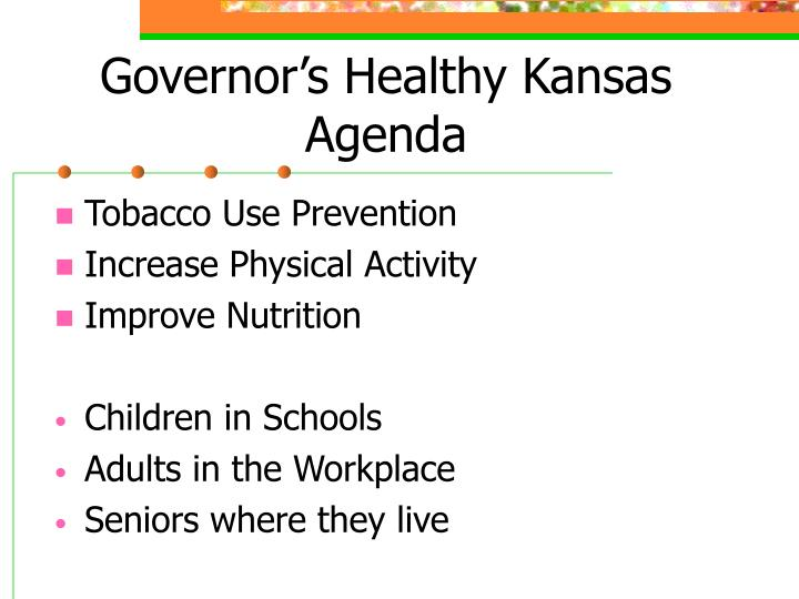 Governor's Healthy Kansas