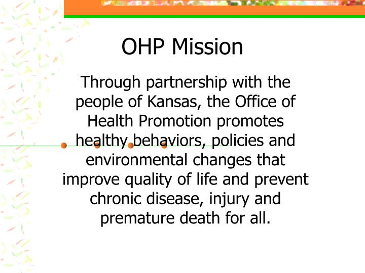 Ohp mission