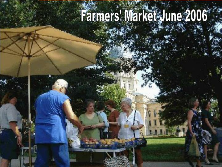 Farmers' Market June 2006