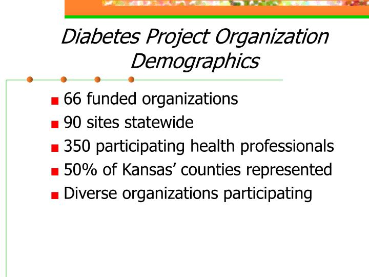 Diabetes Project Organization