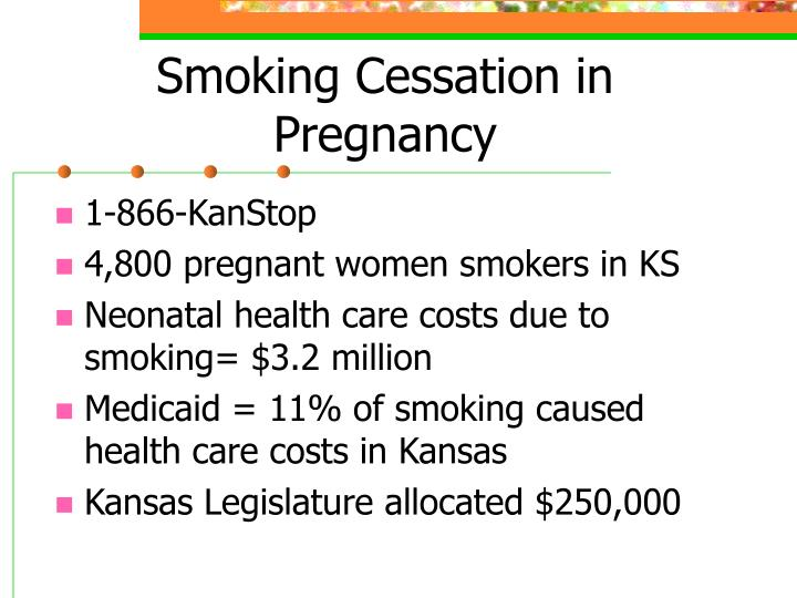 Smoking Cessation in Pregnancy