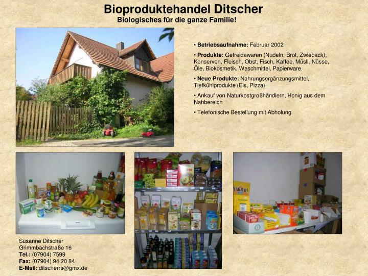 Bioproduktehandel