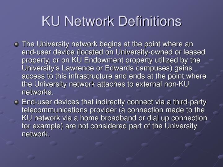 KU Network Definitions