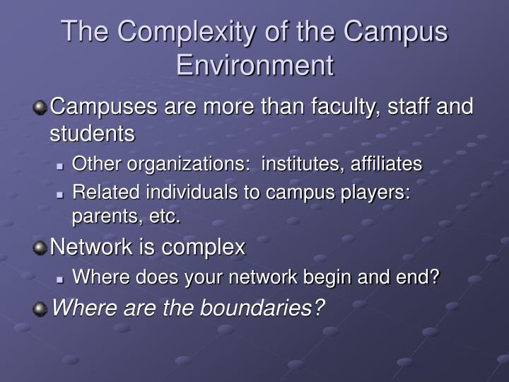 The Complexity of the Campus Environment