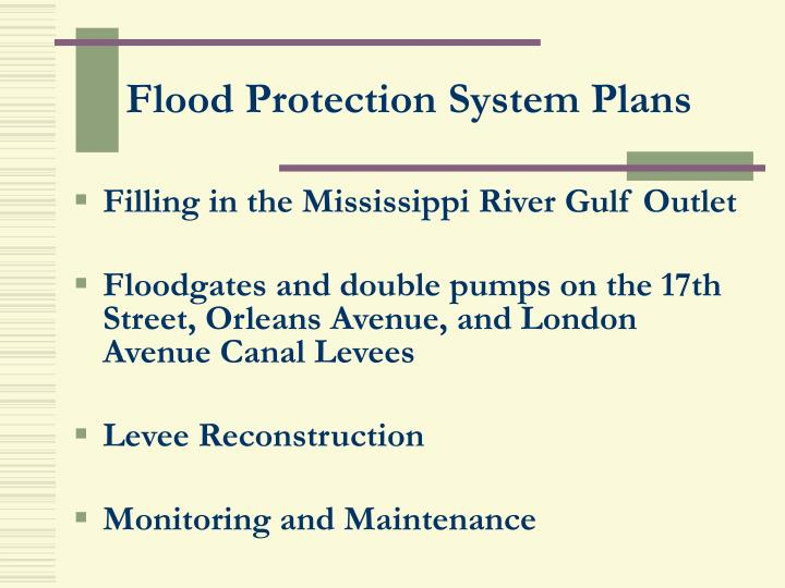 Flood Protection System Plans